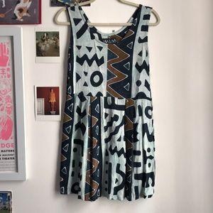Vintage 90s grunge tie dye babydoll dress